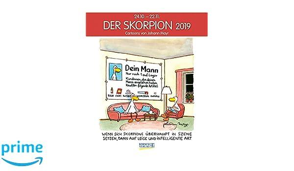 Skorpion 2019 Sternzeichenkalender Cartoonkalender Als Wandkalender