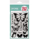 Avery Elle – Set de sellos Mariposas de 10,1 x 15,2 cm, acrílico, multicolor