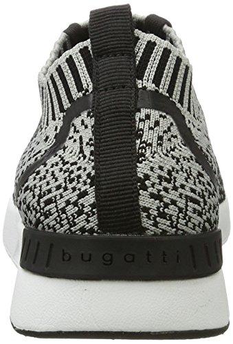 Bugatti 441271626059, chaussons d'intérieur femme Schwarz (Black / Grey)