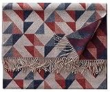 Eagle Products Helsinki Wohndecke l Größe 135x195 cm l Farbe 101 Grau-Ocker-Bordo l Reine Schurwolle