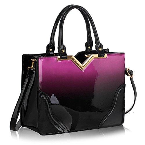 - 51rflAxAjpL - Womens Shoulder Handbags New Look Shoulder Bags Women Handbag Shoulder Bag Patent Handbag Designer Bags For Women Satchel Bag