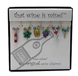 Wine Things WT-1423P Vino Color Wine Charms, Painted