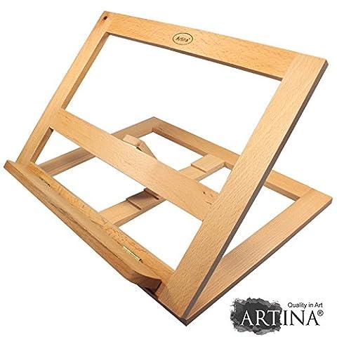 Artina Tisch-Staffelei Clichy Malbrett Zeichenbrett Buchstütze Holz-Staffelei zum Malen oder