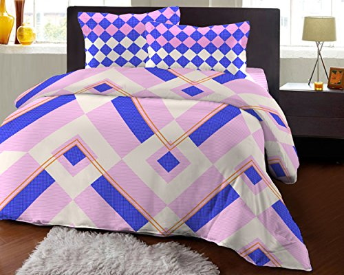 Bombay Dyeing Fair Mist Printed Double Bedsheet - DSN-3 - Poly cotton - 254 cm x 229 cm - Violet  available at amazon for Rs.699
