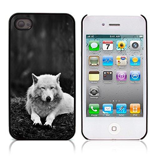 Graphic4You Wolf Tier Design Harte Hülle Case Tasche Schutzhülle für Apple iPhone 4 und 4S Design #1