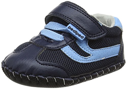 pediped Baby, Jungen Cliff Krabbel-& Hausschuhe, Blue (Navy Sky), 12-18 monate (Schuhe Baby Pedipeds)