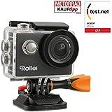 "Rollei 425 - Cámara de acción con pantalla de 2"" (WiFi, CMOS, 4K, control remoto inalámbrico) color negro"