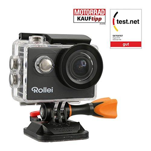 Rollei Actioncam 425 - 4k 2160p, Unterwassergehäuse für bis zu 40m Wassertiefe, 2.4 G Hochfrequenz-Handgelenk-Fernbedienung - schwarz Test