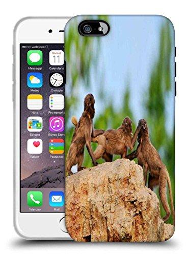 Snoogg Affe Kampf Designer schützende Telefon-Fall-Abdeckung für Apple iPhone 6S (Affen Kämpfen)