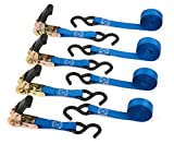 Heavy Duty Ratchet Straps by Vault Cargo - 4.5m - Ratchet Tie Downs with Adjustable tsraps for Awning Storm Straps, Car Roof Racks, Vehicle Recovery and car - truck - motorcycle transportation