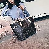 WOAIRAN Weibliche Umhängetasche Damenmode Vintage Druck Große Kapazität Handtasche Messenger Bags Damen Einfache Freizeit Tote Bag Beige