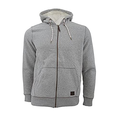 ONeill Mens Jacks Base Full Zip Sherpa Hoodie (M) (Silver