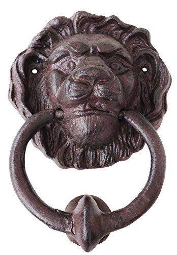 Aldaba león puertahierroestilo antiquo
