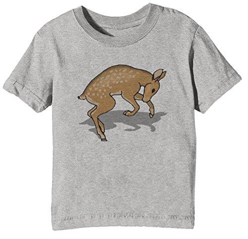 Kitz Kinder Unisex Jungen Mädchen T-Shirt Rundhals Grau Kurzarm Größe XL Kids Boys Girls Grey X-Large Size XL (1937-kunst-druck)