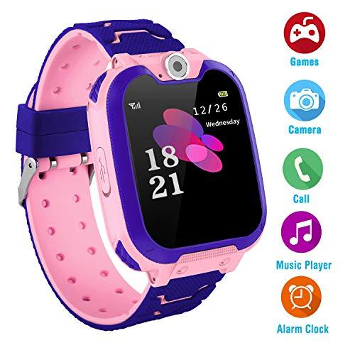 Kinder Smart Watch für 3-12 Jahre alte Jungen Mädchen mit Kamera Touchscreen Spiel Smartwatch Birthday Gift (S10-Purple)