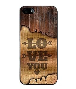 PrintVisa Designer Back Case Cover for Apple iPhone 5 (Love Lovely Attitude Men Man Manly)