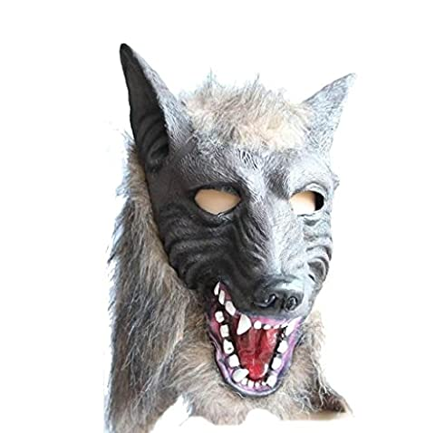 Tonsee® Loup Masque Latex animaux Prop Pour Halloween