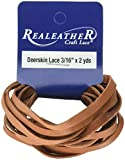 Realeather Crafts Saddle Tan-Deerskin Lace3/16X2Y