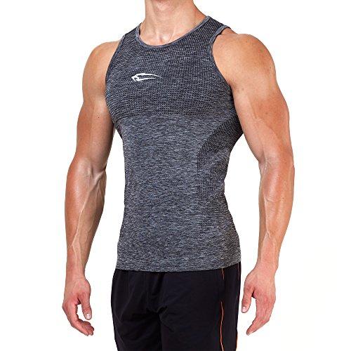SMILODOX Tank Top Herren | Seamless - Muskelshirt mit Aufdruck für Sport Gym Fitness & Bodybuilding | Muscle Shirt - Unterhemd - Achselshirt - Trainingshirt Kurzarm, Farbe:Anthrazit, Größe:XL (Workout-muskel-t-shirt)
