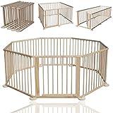 KIDUKU® Parc pour enfants Barrière de sécurité et parc bébé 7,2 m XXL y compris porte de sécurité