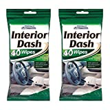 80 Car Dash Interior Clean Wipes 2 Packs of 40