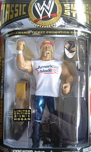 Classic Wwe Superstars Collector Series Real American Hulk Hogan - Wrestlemania Ticket Promotion Giveaway By Jakks Pacific Picture