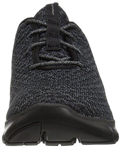 Skechers Flex Appeal 2.0-Bold Move, Allenatori Donna Nero (Black/charcoal)