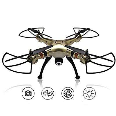 2.4GHz 6-Axis Gyro Wifi Real-time Transmission Drone with 2MP HD Camera 3D Flips High Hold Mode Headless Mode One Key Return RC Quadcopter by LiDi RC