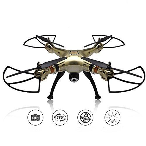 2016 Syma New Product X8HW (Upgrade der beliebten Syma X8W) 2,4 GHz 6-Achsen-Gyro Wifi FPV mit HD-Kamera RC Quadcopter Drone umfasst eine effektive Höhe Haltefunktion sehr einfach zu fliegen für beginers (Farbe: golden)