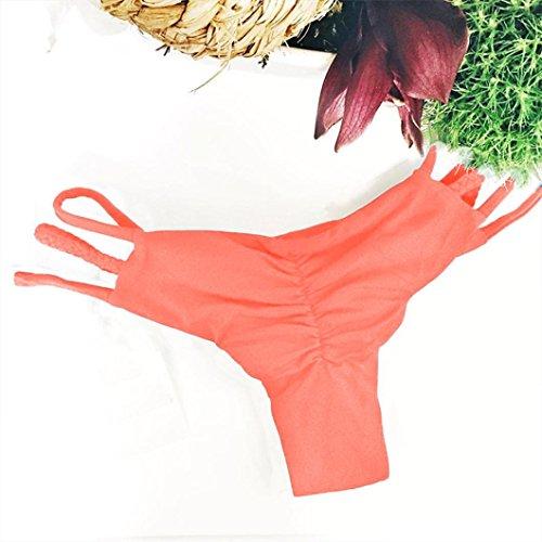 Bikini,BYSTE Tute di nuoto della nuotata del costume da bagno del bikini della fasciatura del costume da bagno delle donne Arancia