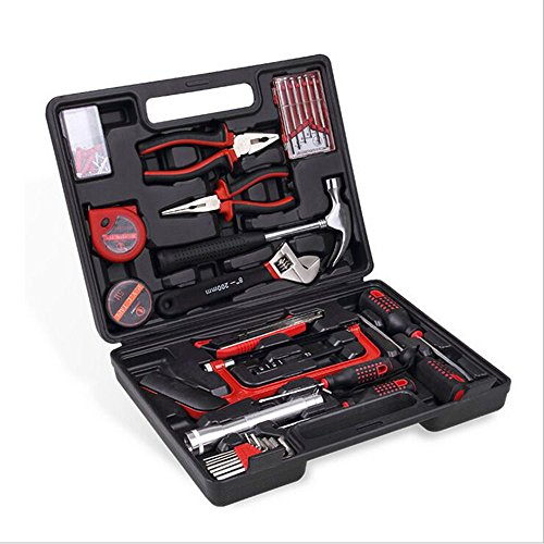 Ofgcfbvxd famiglia e garage set di utensili da 32 pezzi set di attrezzi da lavoro a duplice uso per auto set di kit regalo di emergenza di fascia alta incluso most reached for hand tools