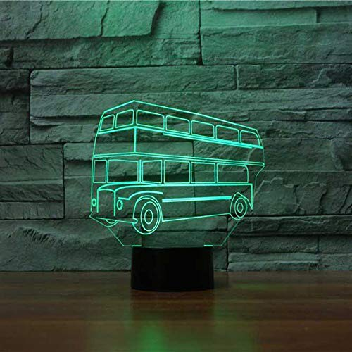 wangZJ 3d nachtlicht/schreibtischlampe/modellierung nachtlicht / 3d illusion lampe / 7 / wohnzimmer schlafzimmer bar beste geschenk spielzeug/doppeldecker bus