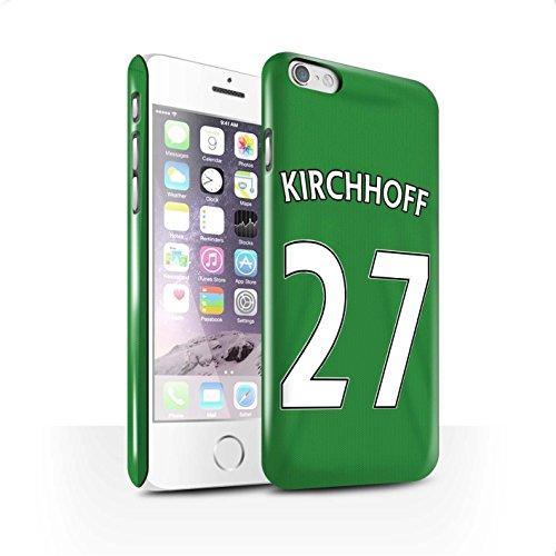 Officiel Sunderland AFC Coque / Clipser Brillant Etui pour Apple iPhone 6 / Pack 24pcs Design / SAFC Maillot Extérieur 15/16 Collection Kirchhoff