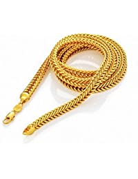 Anvi Jewellers 22Ct Pure Gold and Rhodium Coated Chain Necklace for Women