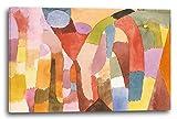 Paul Klee - Bewegung von gewölbten Räumen (1915), 120 x 80 cm (weitere Größen verfügbar), Leinwand auf Keilrahmen gespannt und fertig zum Aufhängen, hochwertiger Kunstdruck aus deutscher Produktion (Alte Meister bis Moderne Kunst). Stil: Abstrakte Malerei, Abstrakte Kunst, Expressionismus, Kubismus