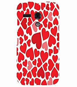 Back Cover for Moto G (1st Gen) valentines day hearts