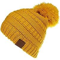 Chicos de Invierno para niñas Kids Baby Toddler Knit Gorro de Gorro de Invierno para niños para otoño Invierno (10 Colores) para Actividades de Snowboard al Aire Libre (Color : Amarillo)