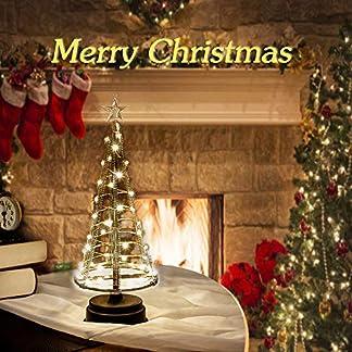 HONESTY-Faltbarer-Weihnachtsbaum-250-Warmweie-LEDs-auf-Kupferdraht-1-m-Hoch-Der-Metallbaum-Schmckt-Ihr-Haus-Oder-Ihren-Garten-mit-Funkelnder