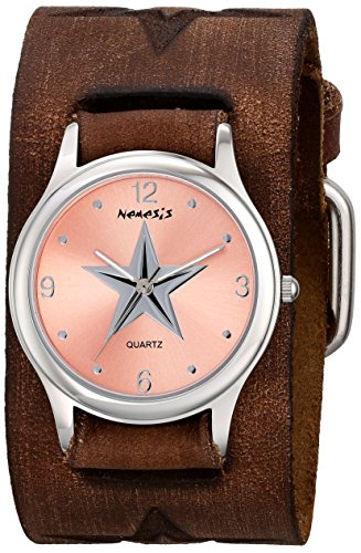 Nemesis Women's 355DBFSRTP Vintage Star Series Analog Display Japanese Quartz Brown Watch