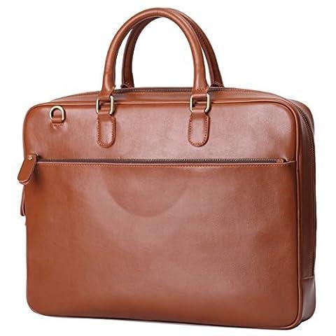 Leathario sac en cuir sac messenger voyage porte-documents sac a epaule