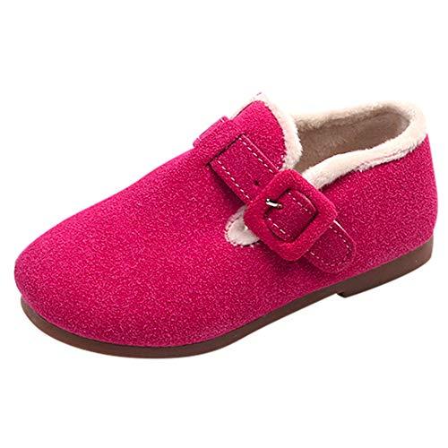 YanHoo Zapatos para niños Zapatos de algodón para niños más Antideslizantes Bebé Niños Calientes Chicas Zapatillas Snow Niños Caballero Casual Zapatos sólidos