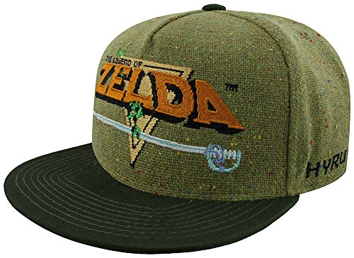 Zelda Hat (The Legend of Zelda 8-Bit Logo Snapback-Cap)