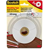 Scotch 40011210 - Cinta adhesiva (2 unidades, doble cara, 12 mm x 5 m), color blanco