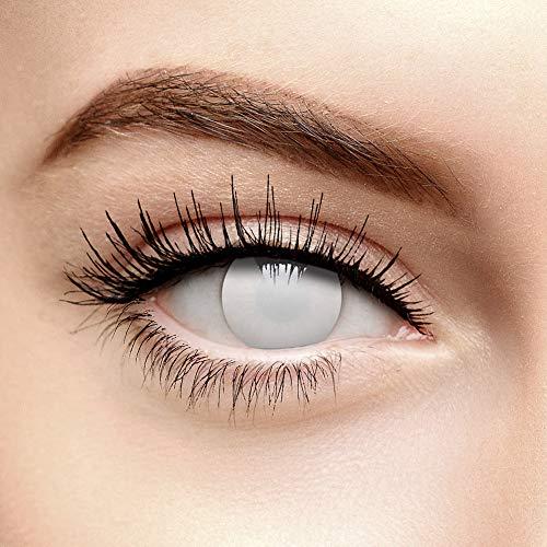 Weiße Blind Zombie Halloween Farbige Kontaktlinsen ohne Stärke (Tageslinsen)