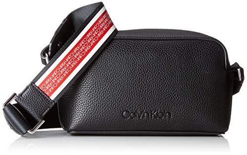 Calvin Klein Damen Race Crossbody Umhängetasche, Schwarz (Black), 8x20x13 cm