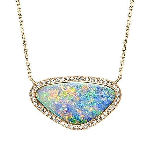 Celine d'Aoust 14 ct Rose Gold Triangle Multicolour Doublet Opal