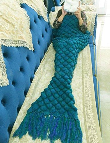 A maglia Crochet sirena coda coperta, sacco a pelo per soggiorno divano letto per adulti e ragazzi - No Aria Condizionata