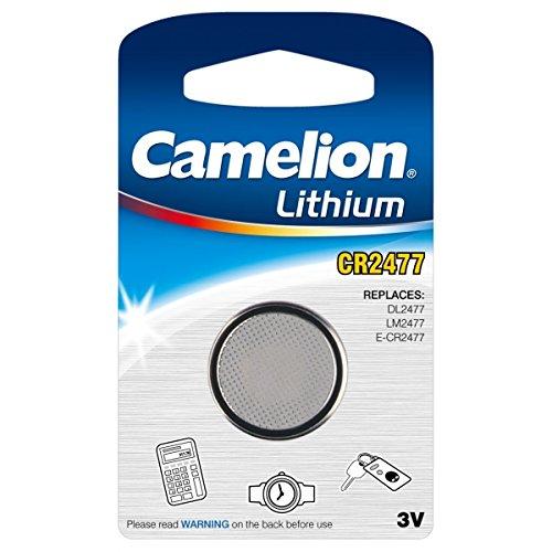 CAMELION - Pile bouton lithium CR2477 / DL2477 / LM2477 / E-CR2477