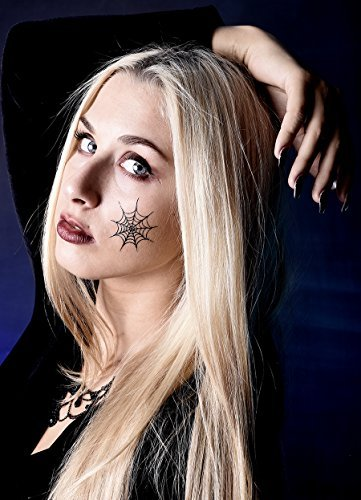 Mega - Set 8 fogli Flash tatuaggi Halloween, ritmo rary
