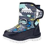 La Vogue Zapatos Botas de Nieve Invierno Para Niño Unisex Negro 22/Interior Largo 13.5CM